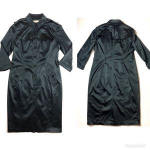 NWT Vntg Burberry London Trench Coat black Jacket